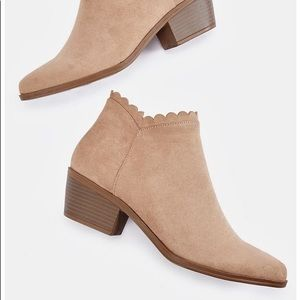 JUST FAB / Fayra Taupe Bootie